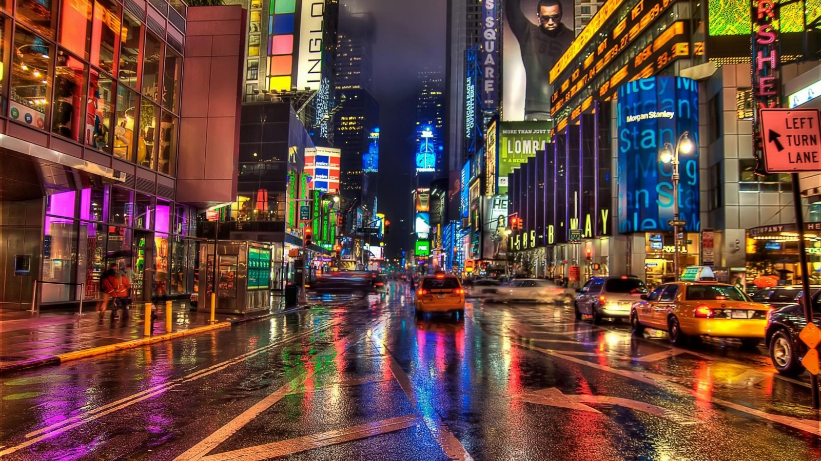 First Rate Well Regarded New York City Street Night Hd Wallpaper Humid Nyc