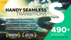 Over 490 dynamic After Effects transitions for any video projects!